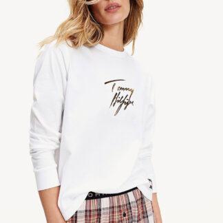 Tommy Hilfiger bílé tričko L/S Tee Gold