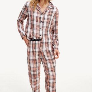Tommy Hilfiger pudrové pyžamo Full Woven Set Holiday