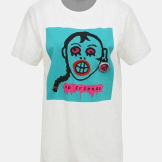 Bílé dámské tričko s potiskem Diesel