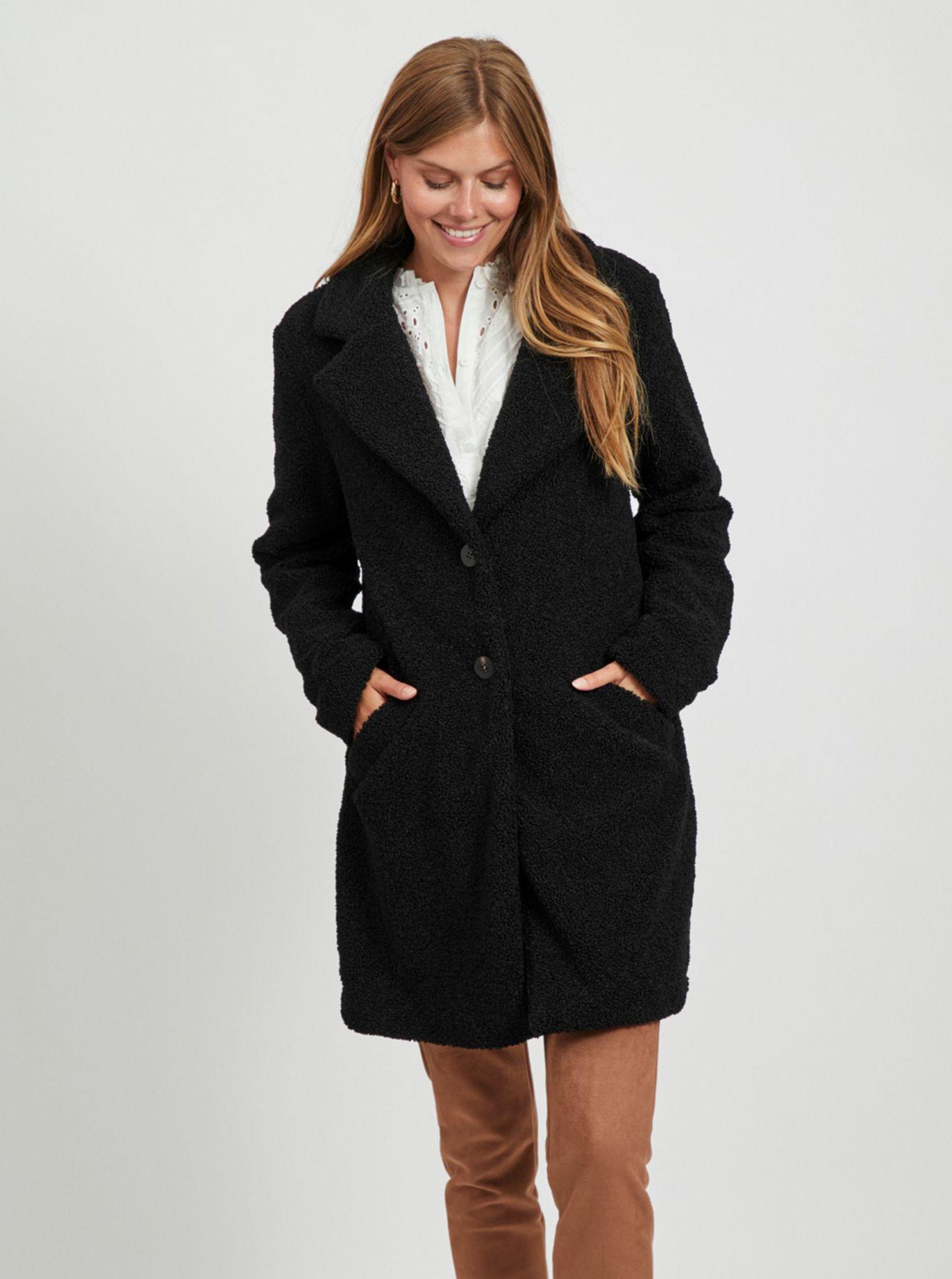 Černý kabát VILA Liosi