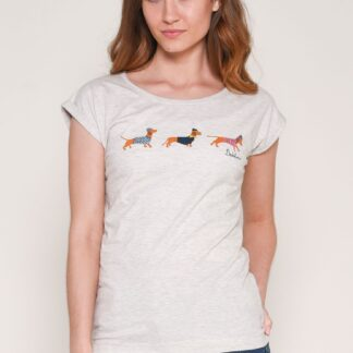 Krémové tričko s potiskem Brakeburn