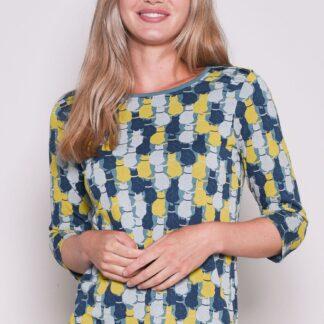 Modré vzorované tričko Brakeburn