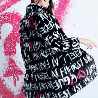 Guess stylový kabát Faux Fur Coat