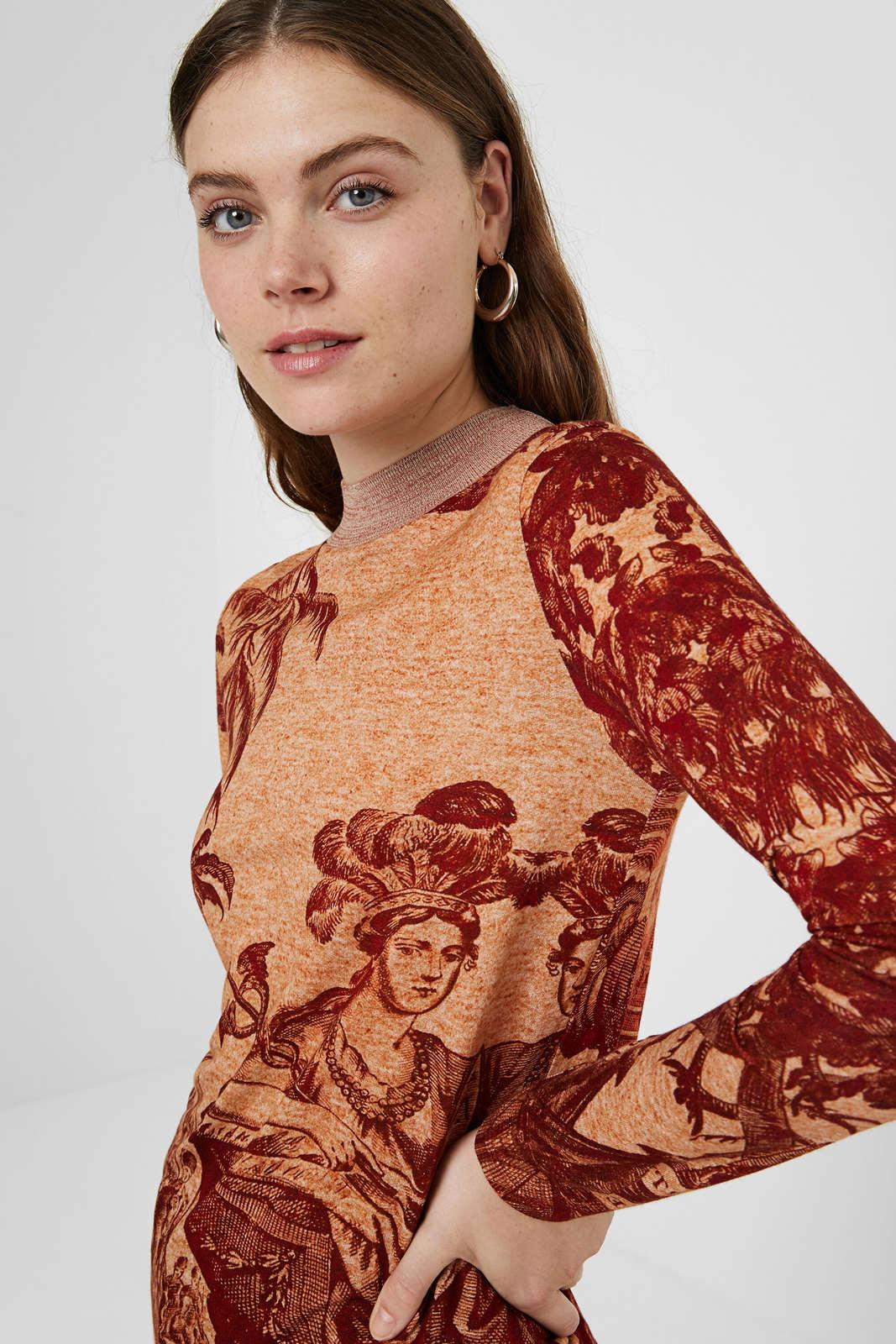 Desigual tričko TS Versalles s dlouhým rukávem