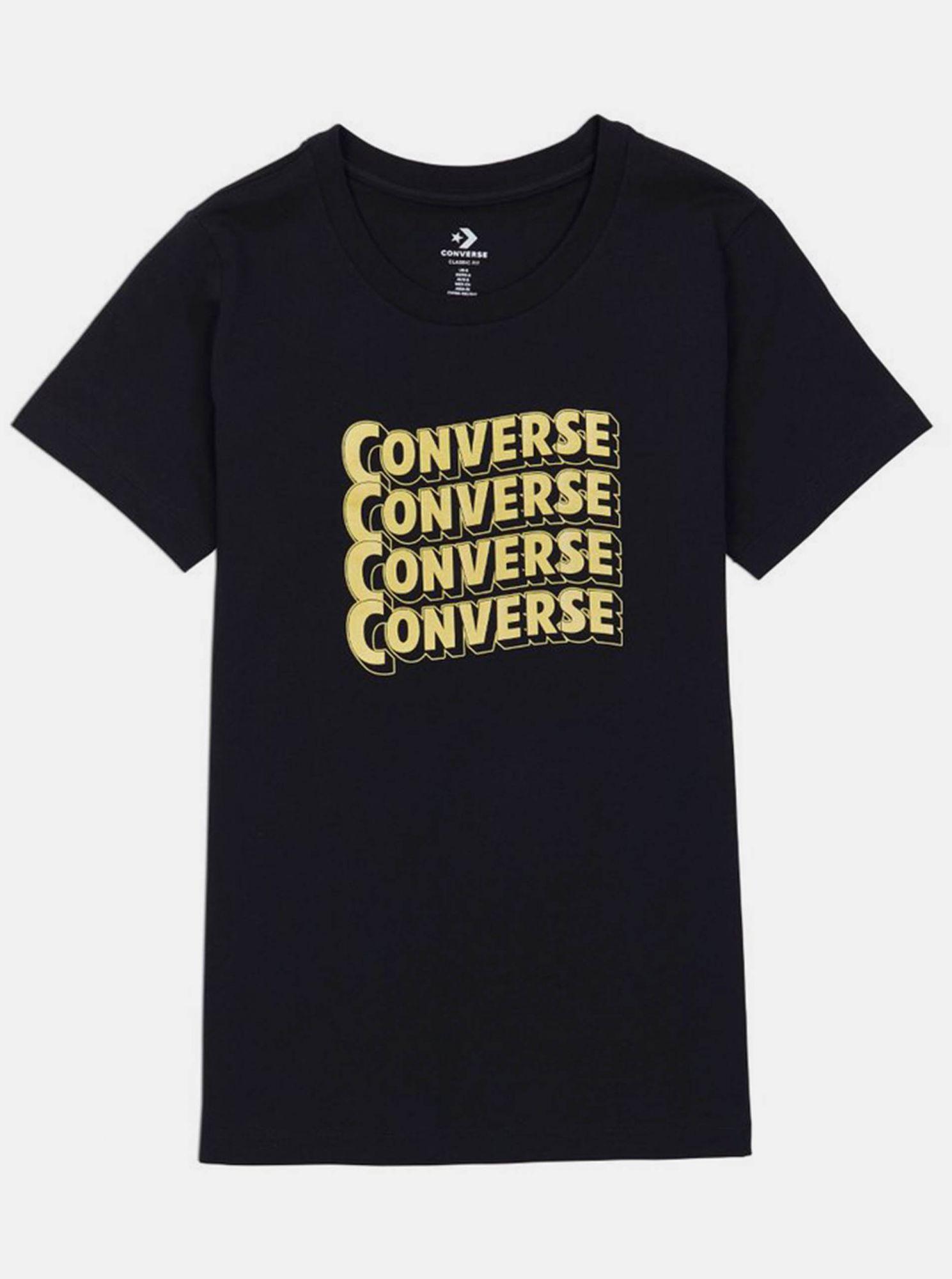 Černé dámské tričko Converse