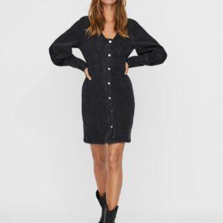 Černé džínové šaty VERO MODA Bernice