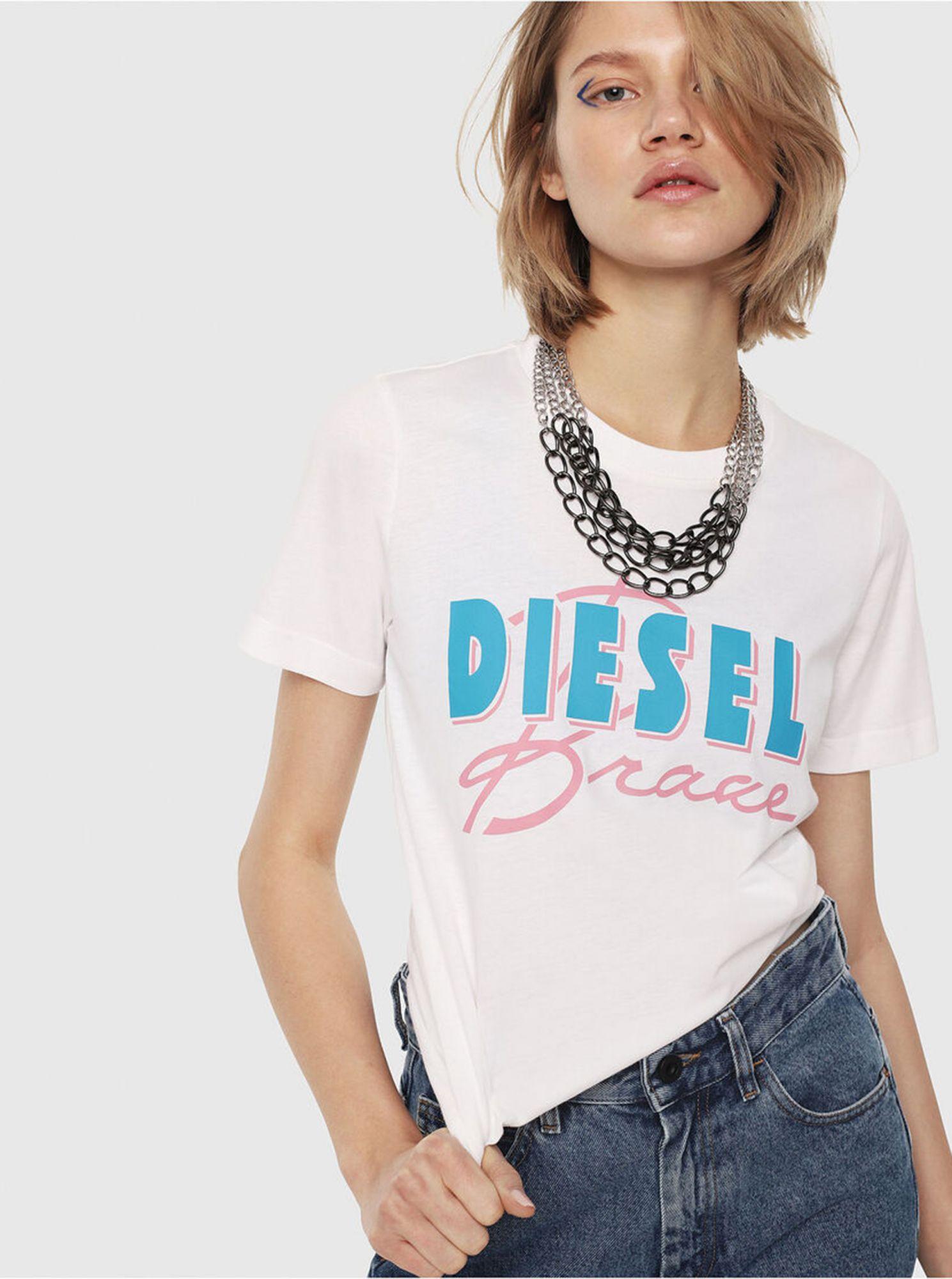 Bílé dámské tričko Diesel