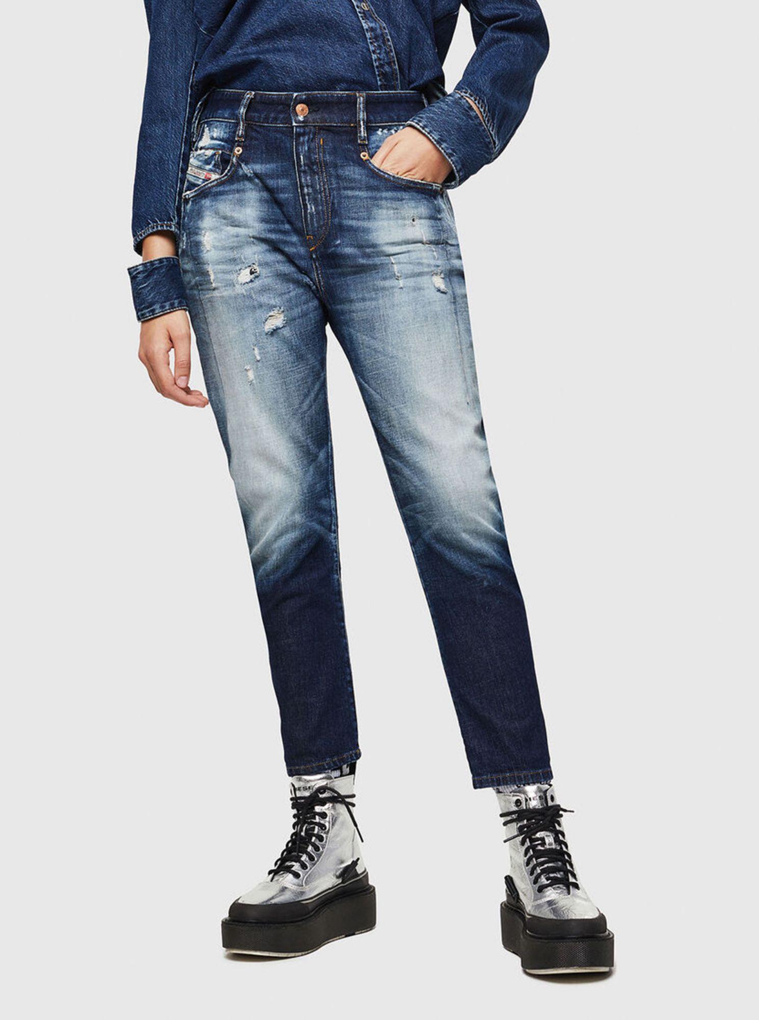 Modré dámské boyfriend džíny Diesel