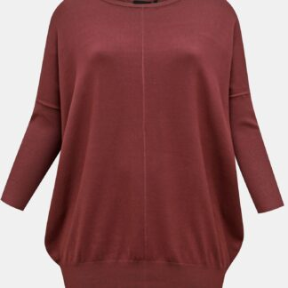 Zizzi vínový lehký svetr