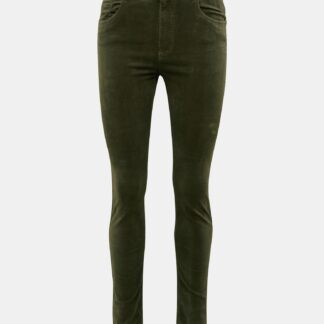 Khaki manšestrové skinny fit kalhoty Jacqueline de Yong Era