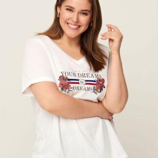 Zizzi bílé tričko s potiskem