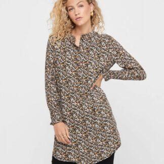 Béžové vzorované šaty Jacqueline de Yong Peak