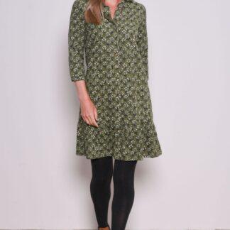 Zelené vzorované košilové šaty Brakeburn