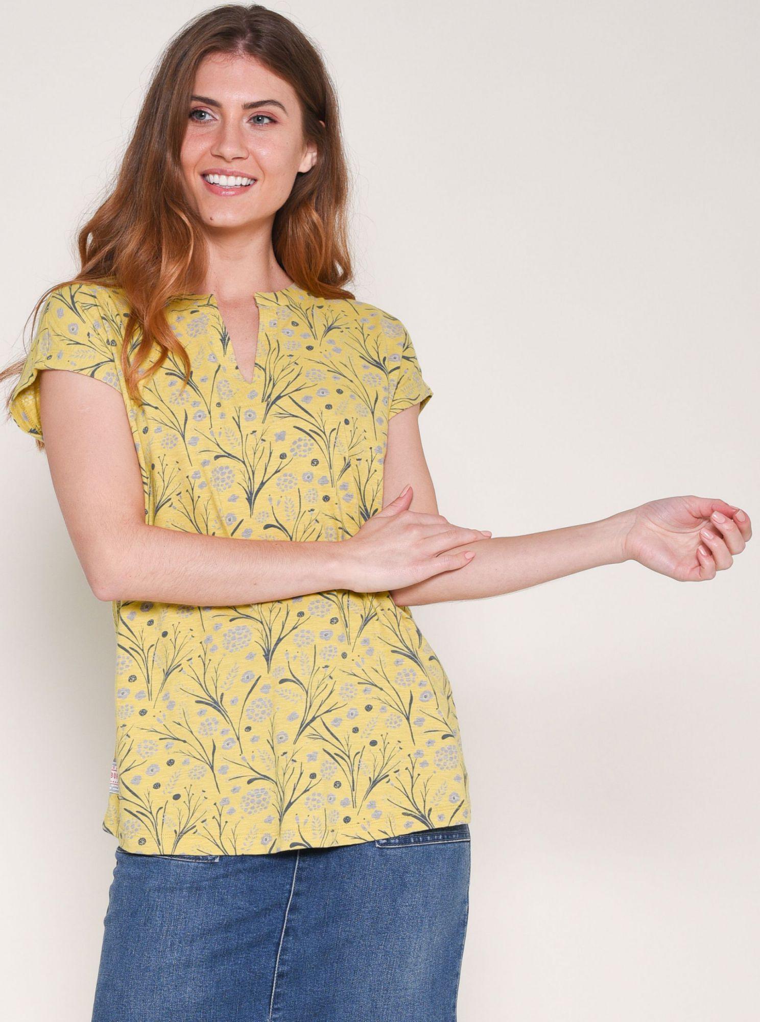 Žluté vzorované tričko Brakeburn