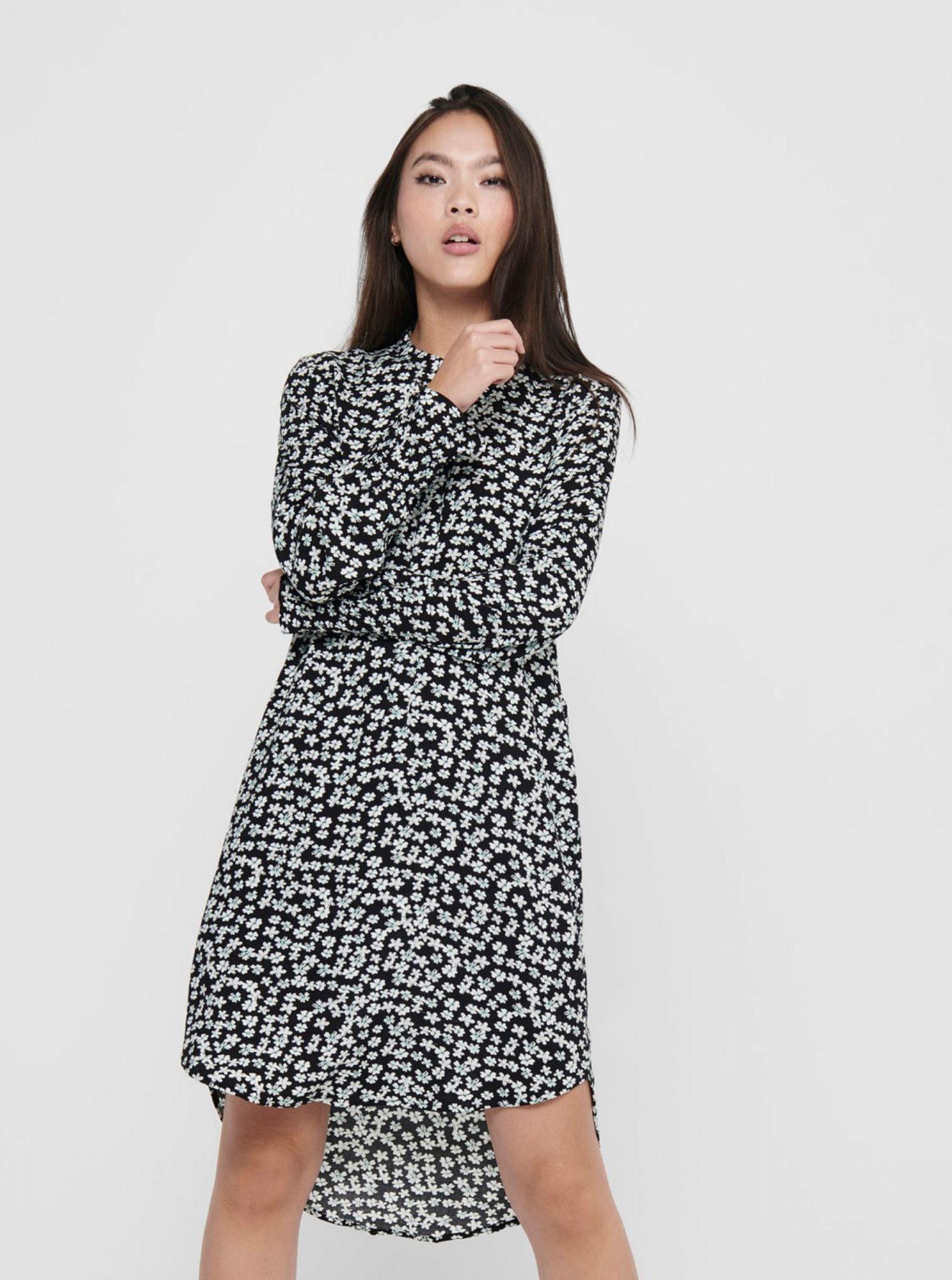 Černé vzorované šaty Jacqueline de Yong Peak