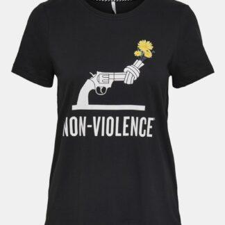 Černé tričko  s potiskem ONLY Non