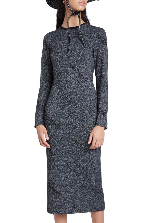 Desigual šedé midi šaty Vest Angie