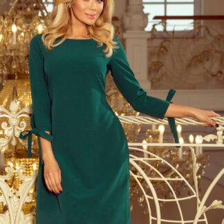 Tmavě zelené šaty numoco