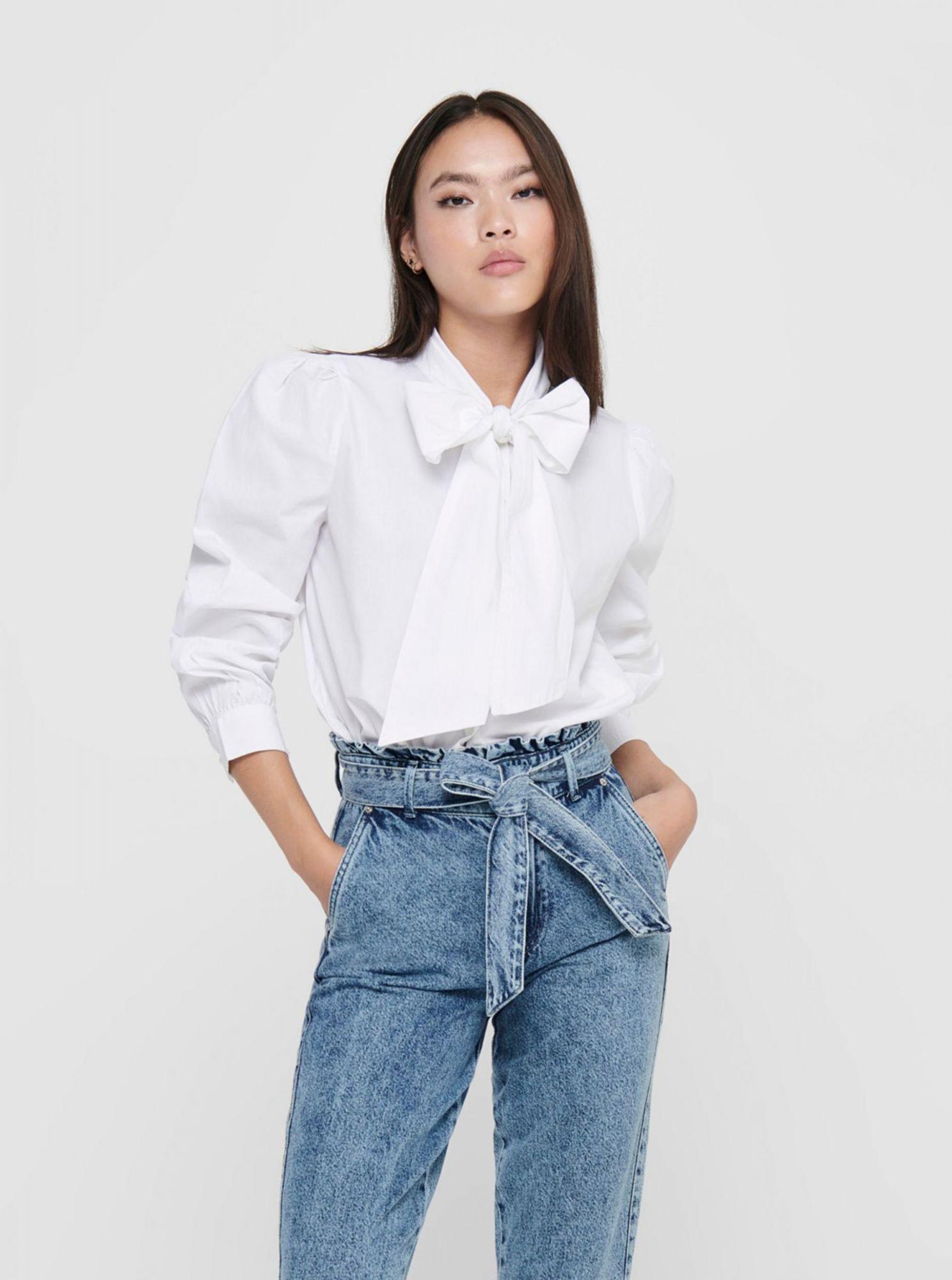 Bílá košile s mašlí ONLY Billie