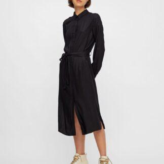 Černé košilové šaty Pieces Barbel