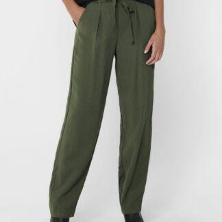 Khaki kalhoty Jacqueline de Yong Sabina