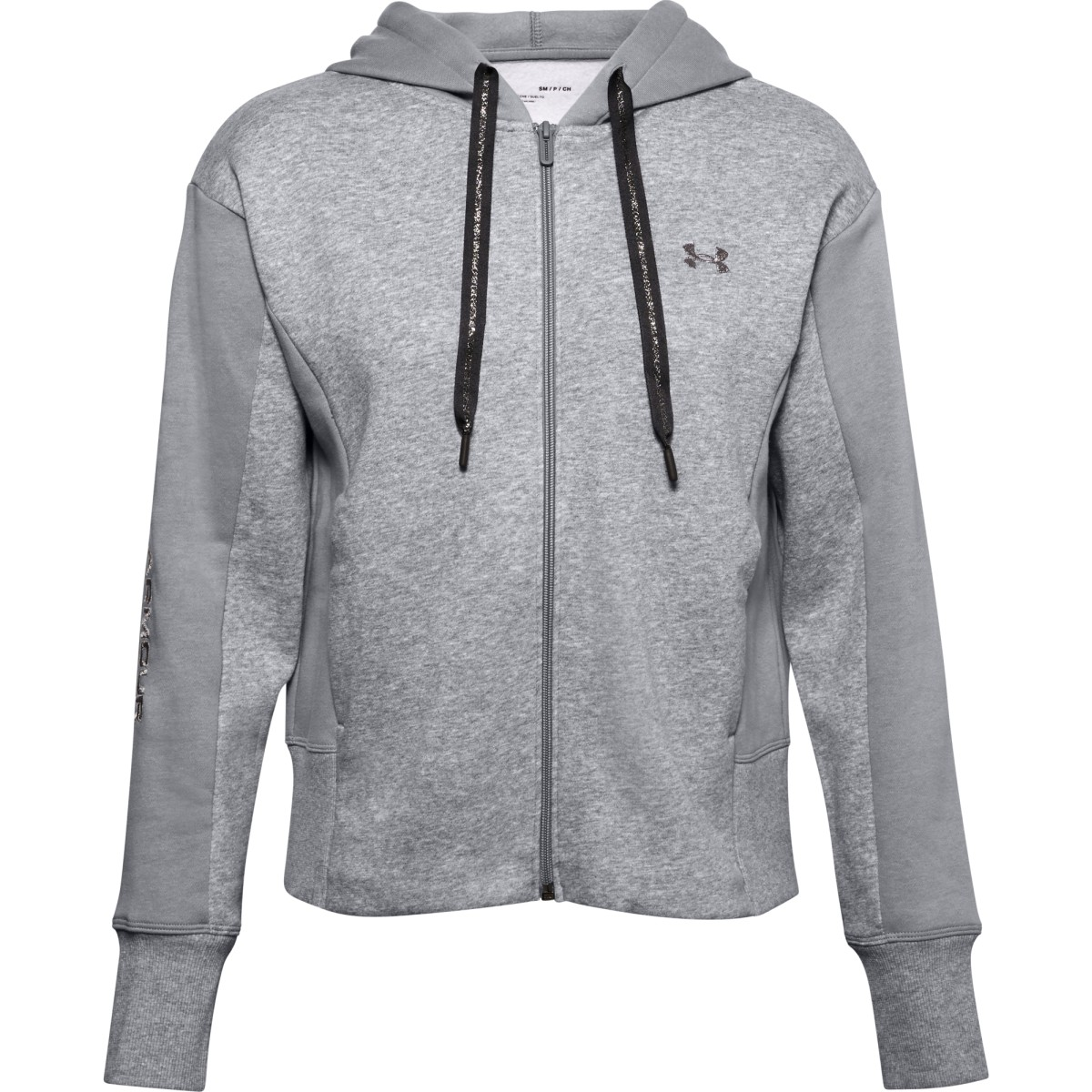 Mikina Under Armour Rival Flce EMB FZ Hoodie-GRY