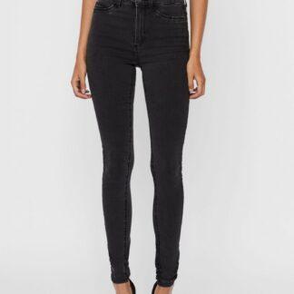 Tmavě šedé skinny fit džíny Noisy May Callie