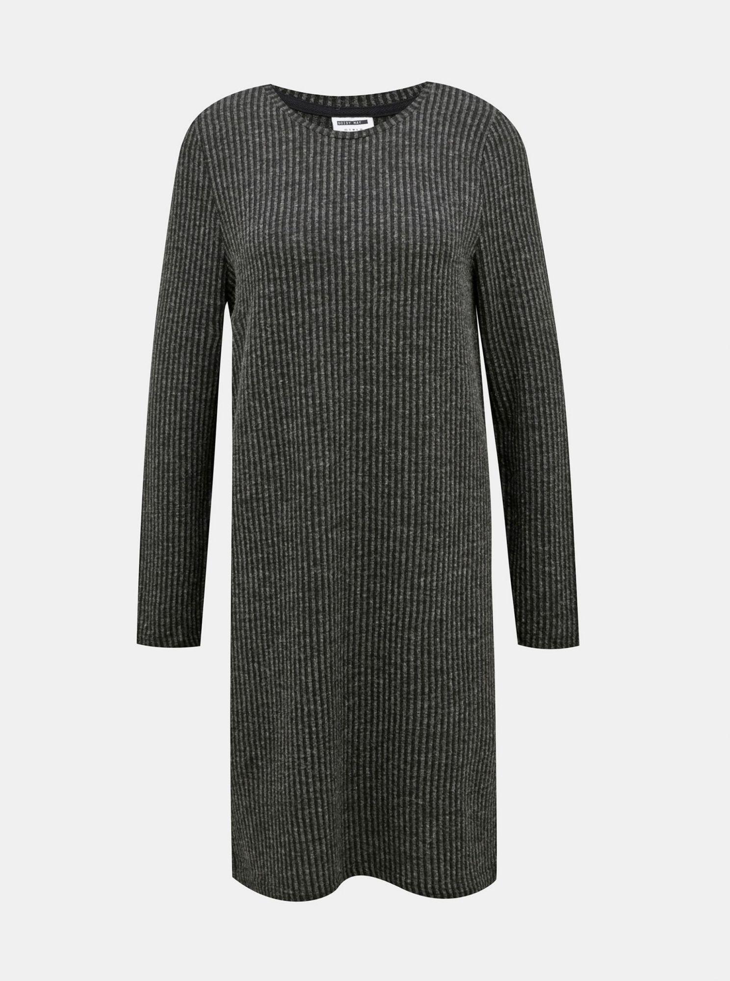 Tmavě šedé svetrové šaty Noisy May Lucie