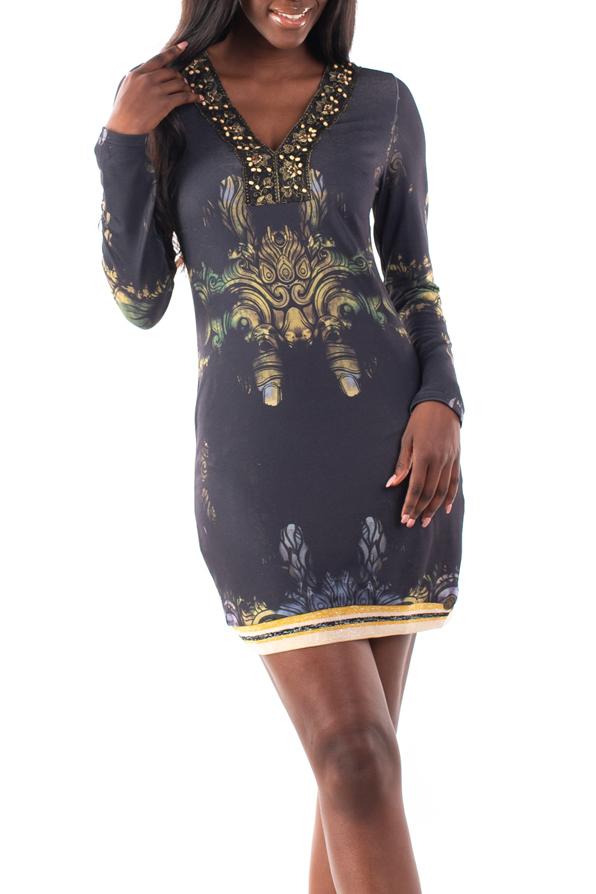 Culito from Spain černé šaty Topeng