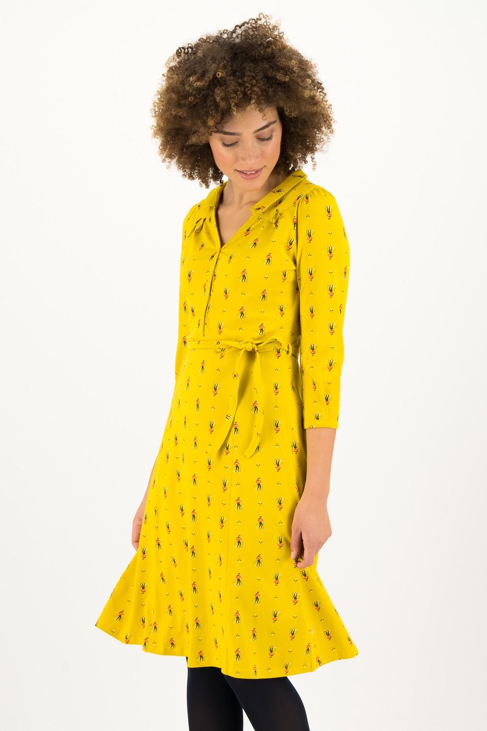 Blutsgeschwister žluté šaty Apres Ski