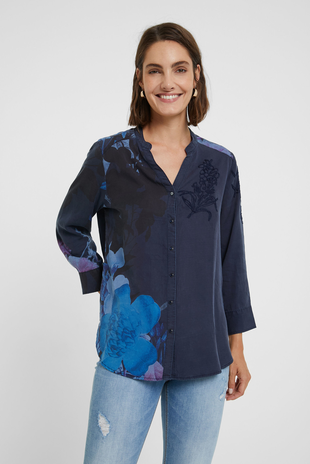 Desigual tmavě modrá košile Cam Anais