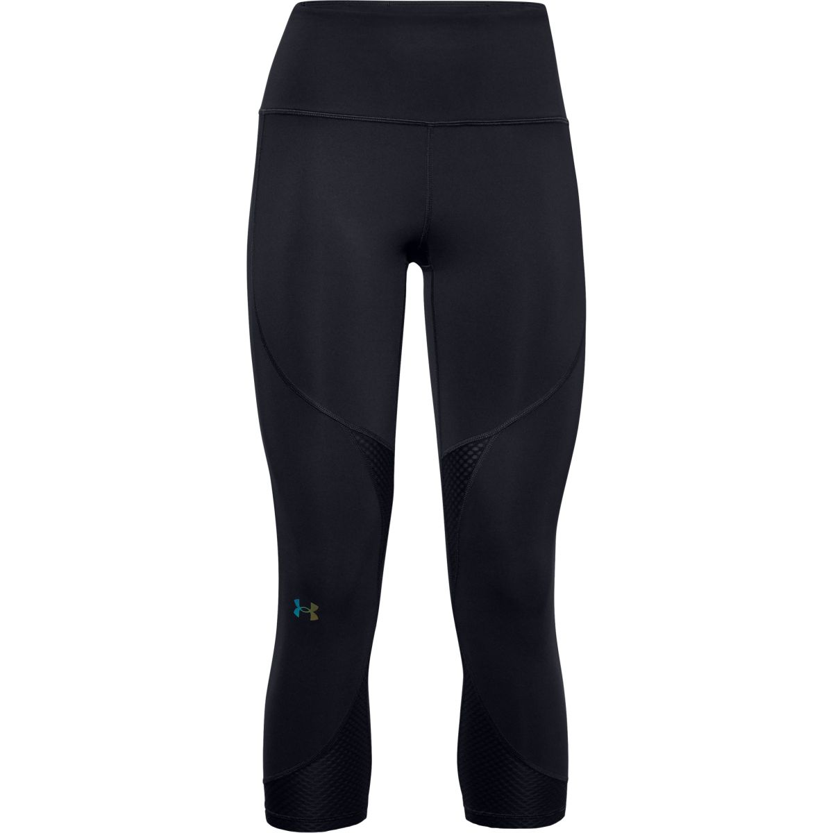 Legíny Under Armour UA Rush Side Piping Crop-BLK