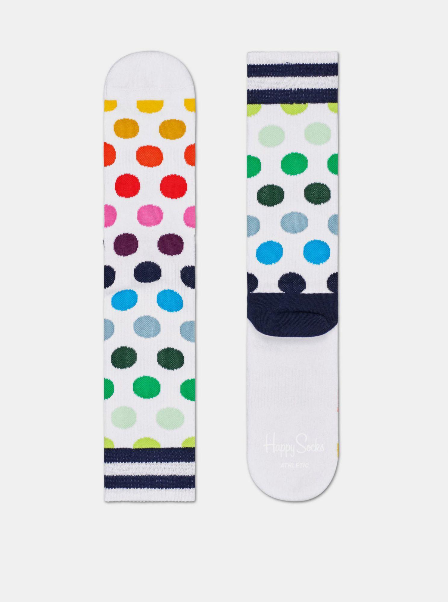 Bílé puntíkované ponožky Happy Socks Big Dot