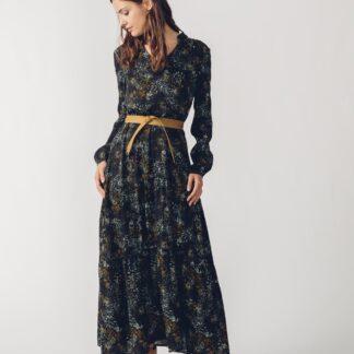 SKFK černé maxi šaty Letizia