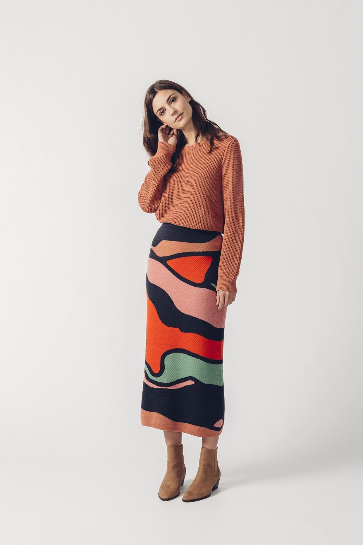 SKFK svetrová dlouhá sukně Aiurdin