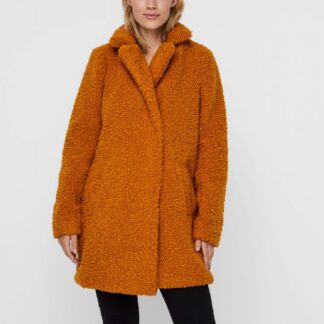 Oranžový zimní kabát Noisy May Gabi