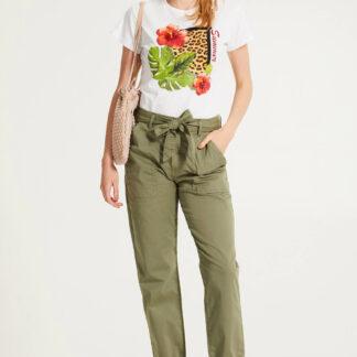 Rinascimento bílé tričko s letním motivem