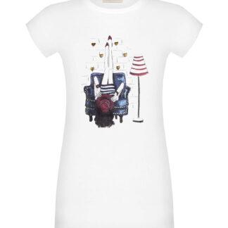Rinascimento bílé tričko s potiskem