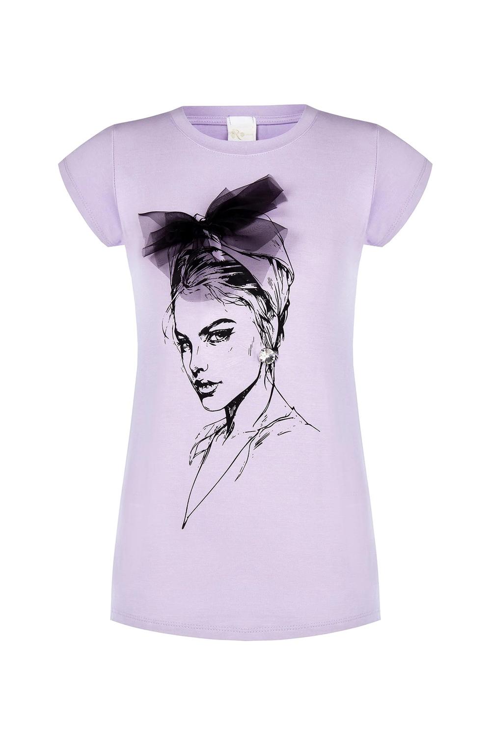 Rinascimento levandulové tričko s kresbou