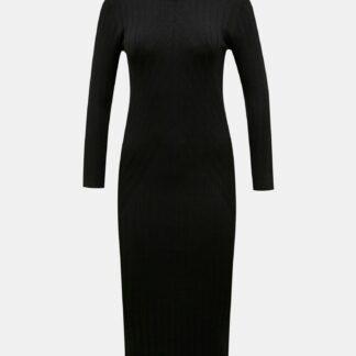 Černé svetrové šaty Jacqueline de Yong Kate