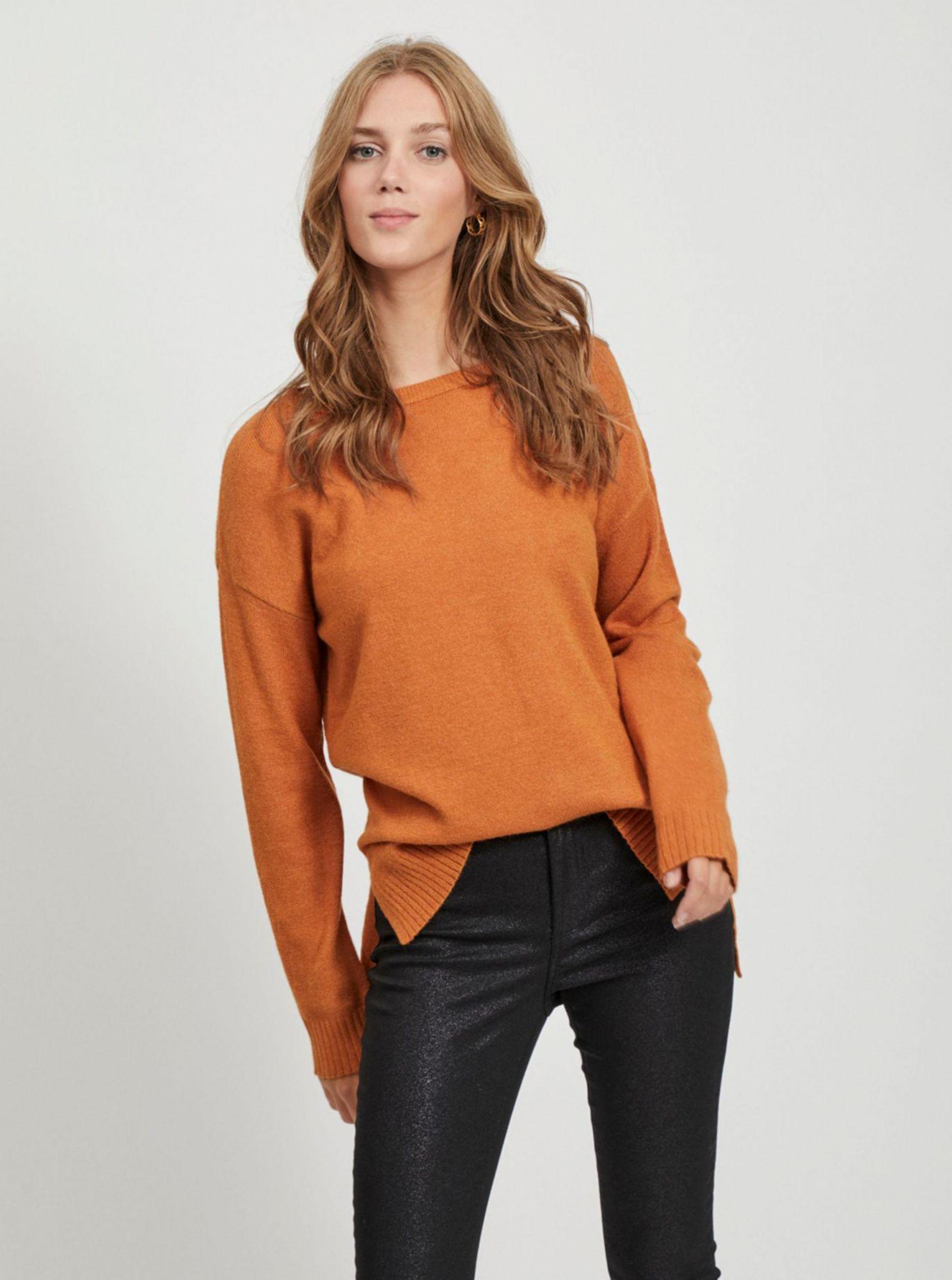 Oranžový svetr VILA Ril