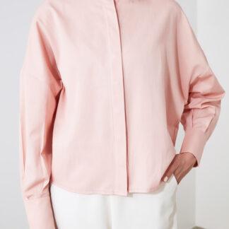 Růžová volná košile Trendyol