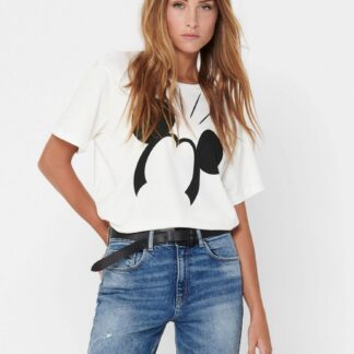 Bílé tričko Jacqueline de Yong Molly