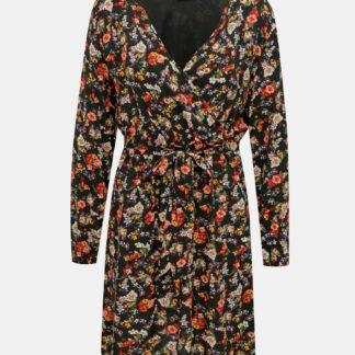 Černé květované šaty Jacqueline de Yong Bello
