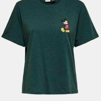 Tmavě zelené tričko Jacqueline de Yong Molly