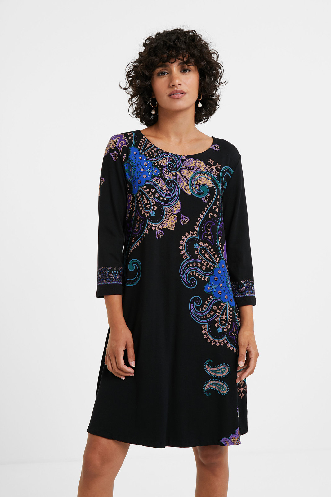 Desigual černé šaty Vest Washintong
