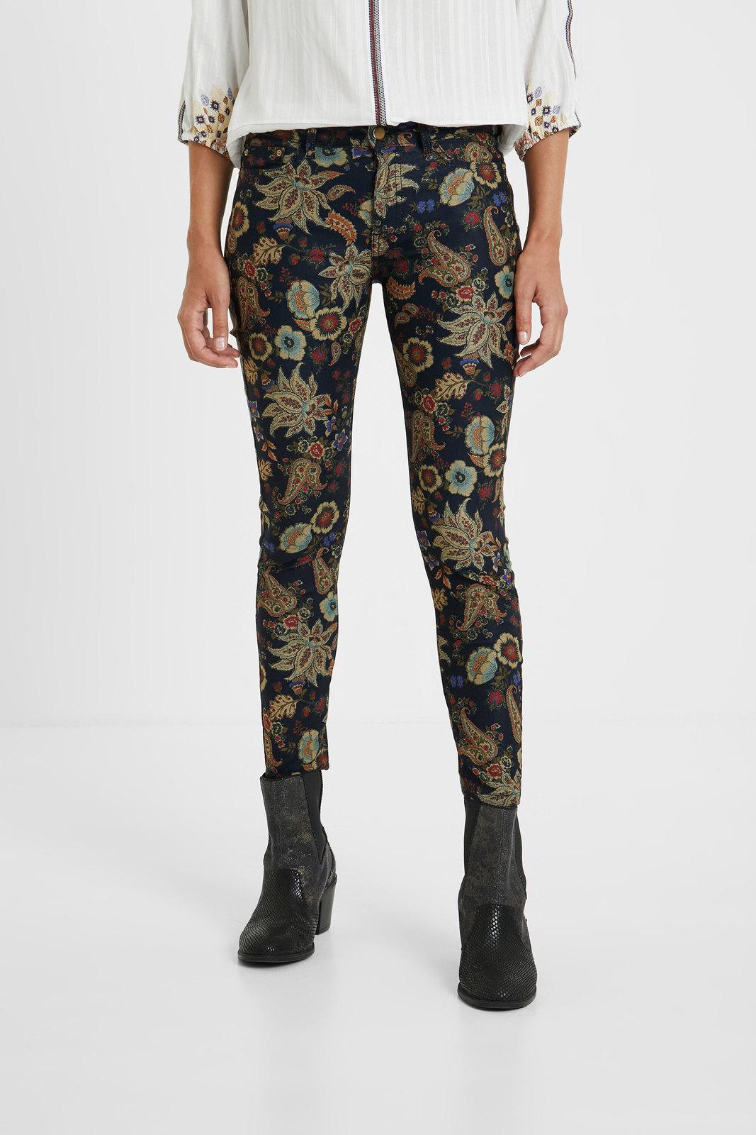 Desigual barevné kalhoty Pant Candela