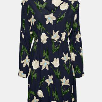 Tmavě modré květované šaty VERO MODA Betty