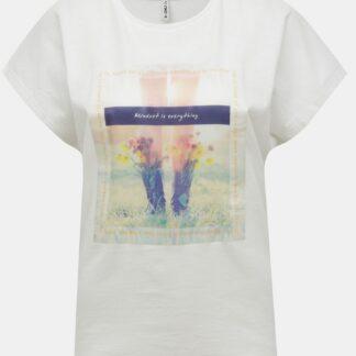 Bílé tričko s potiskem ONLY Maya