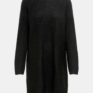 Černé svetrové šaty ONLY Carol